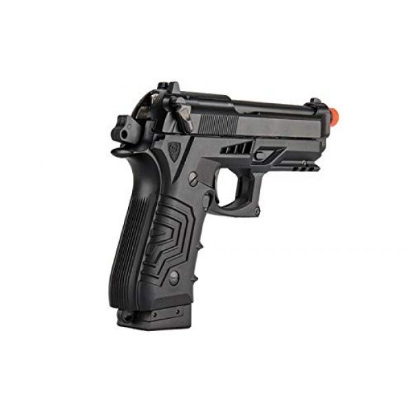 HFC Airsoft Pistol 4 HFC HG-173 M92 CO2 Blowback Airsoft 1911 Tactical Pistol Full/Semi Automatic Black with Gun Case