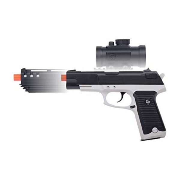 Game Face Airsoft Pistol 3 GameFace GFM39PG Ghost Mayhem Spring-Powered Single-Shot Airsoft Pistol