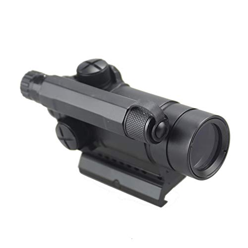 DJym Rifle Scope 3 DJym M4 Non-Magnification Red Film, Red Dot Sight, High Shockproof Waterproof Rifle Scope