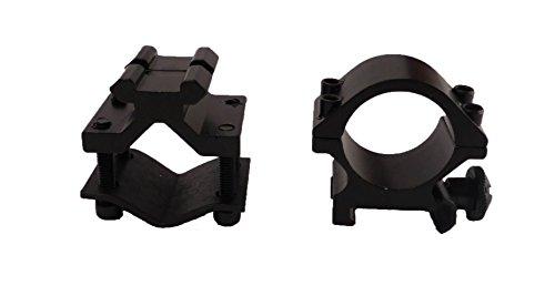 "Tactical Scorpion Gear Rifle Scope Accessory 4 Tactical Scorpion Gear TSG-GMB07A 1"" Aluminum Scope Laser Universal Mount - Black"