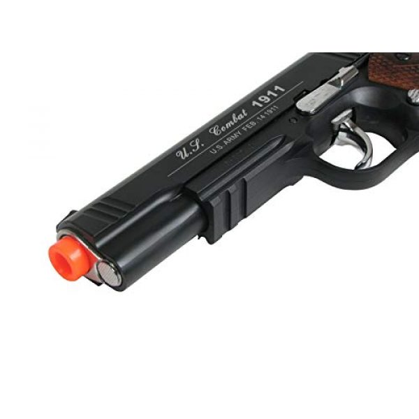 WinGun Airsoft Pistol 6 WG Special Combat Pistol 1911 CO2 Blowback Airsoft Pistol Black with Brown Grip