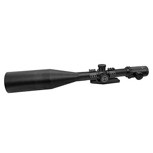 SECOZOOM Rifle Scope 1 SECOZOOM Optics ED Lens 4-50X75 Illuminated Riflescope First Front Focal Plane/FFP Glass-Etched Reticle 35mm Rifle Scope w 35mm Mount & 75mm Sunshade
