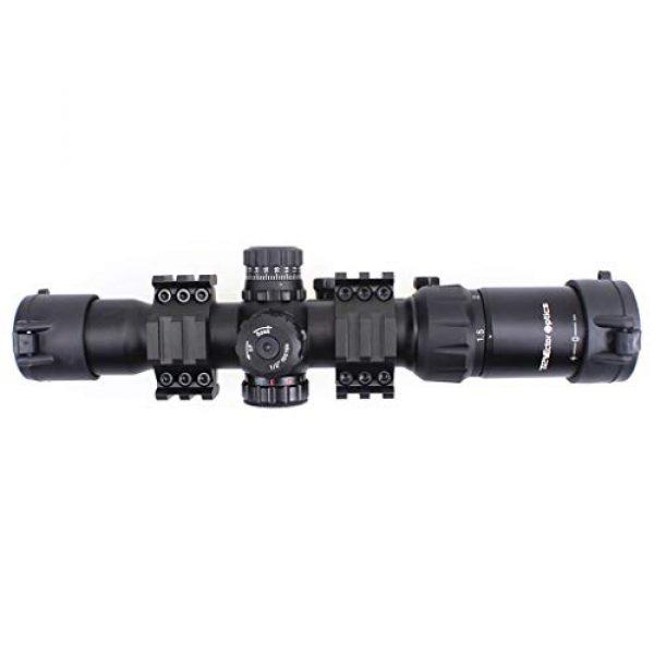 Vector Optics Rifle Scope 6 Vector Optics Mustang 1.5-4x30mm, 1/2 MOA, 30mm Tube, Red, Green & Blue Illuminated Chevron Reticle,Tactical Second Focal Plane (SFP) Riflescope