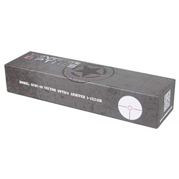 Vector Optics Rifle Scope 7 Vector Optics Arbiter 1-4x24mm, 1/2 MOA, Red Dot Illuminated Reticle Compact Tactical Second Focal Plane (SFP) Riflescope