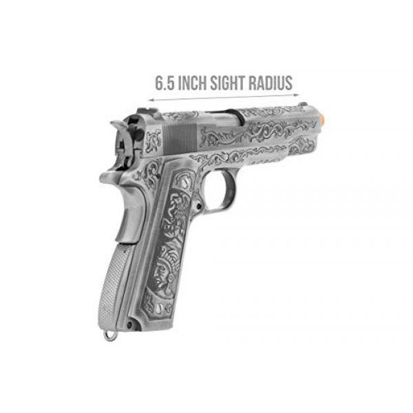 Lancer Tactical Airsoft Pistol 4 Lancer Tactical WE Full Metal Airsoft Gas Blowback Floral Pattern Pistol 1911 Silver