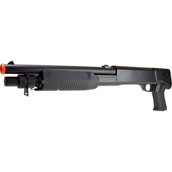 DE/CSI Airsoft Shotgun 5 DE Model-799S Tri-Burst Shot Gun w/Pistol Grip&Shell Holster
