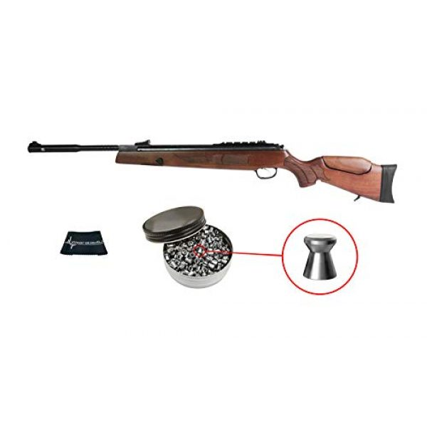 Wearable4U Air Rifle 1 Wearable4U Hatsan Model 135 Vortex QE (Quiet Energy) Air Rifle with Included Pack of Pellets Cloth Bundle