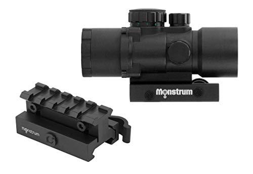 Monstrum Rifle Scope 1 Monstrum S330P 3X Prism Scope | RM5-AH Adjustable Height Riser Mount with Quick Release | Bundle