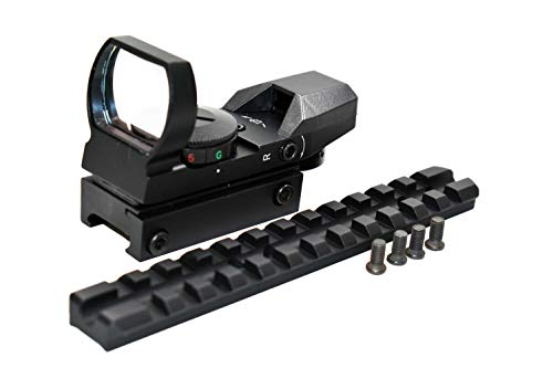 TRINITY Rifle Scope 1 Trinity Hunting Reflex Sight with Base Mount for mossberg 500/590/835 12 Gauge Pump Picatinny Weaver Base Mount Adapter Rail Aluminum Black Hunting Optics Tactical Home Defense Accessory.