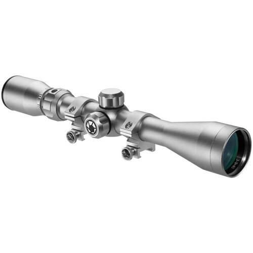Barsaka Rifle Scope 1 New Barska 3-9x40mm 30/30Rifle Scope with Rings, Silver
