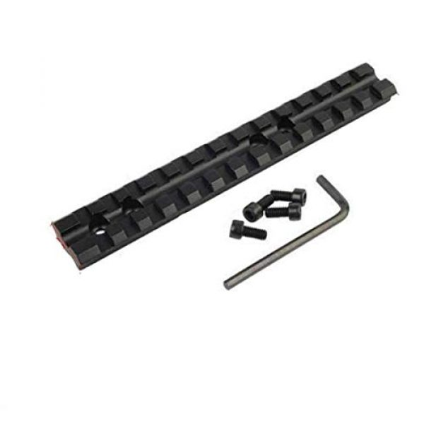 Gotical Shotgun Shell Mount 4 Gotical 13 Slots Mossberg 500 or 590 Series Shotgun Weaver Mount Rail 20mm Picatinny Mount Rail Shotgun and Mounted Mossberg 500/590 / 835 / Maverick 88 4 Round 12 Gauge Shotgun Ammo Shell