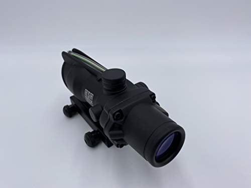 Spina Rifle Scope 1 Clone Skull ACOG 4X32 Fiber Lit Green Illuminated Chevron Scope Tactical