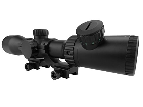 Monstrum Rifle Scope 4 Monstrum 3-12x42 AO Rifle Scope with Illuminated Mil-Dot Reticle and Offset Reversible Scope Rings