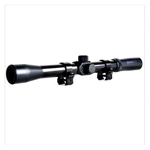 Without Rifle Scope 1 Toy Gun Sight Red dot Sight Magnification 1 Piece of 4x20 air Step Telescopic Sight Sight Telescope Sight Mirror Sport Equipment Hunting Accessories (Color : Black)