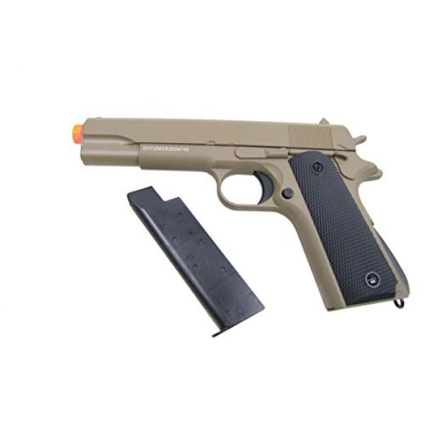 GE / JG Airsoft Pistol 4 GE / JG Full Metal 1911 Spring Powered Airsoft Pistol with Portable Airsoft BB Trap Target Tent Package (Tan)