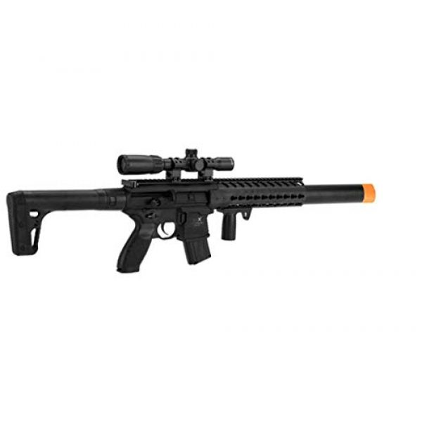 Sig Sauer Air Rifle 1 Sig Sauer MCX .177 Cal CO2 Powered 1-4x24mm Scope Air Rifle (30 Rounds), Black, one size