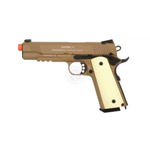 KWA Airsoft Pistol 2 KWA 1911 MK II PTP 6mm 21rd Dark Earth Airsoft Gun (101-00322)