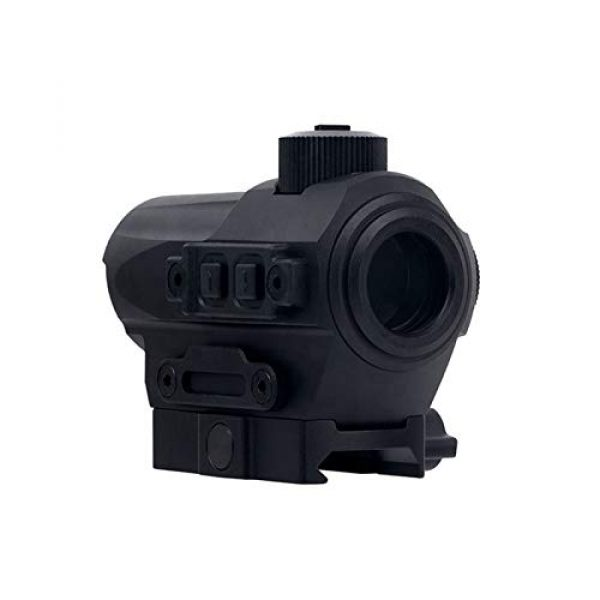 Fashion Sport Rifle Scope 6 Fashion Sport Outdoor Hunting red dot riflescope 1X27 Red Dot Sight 1.5 MOA Manual Key Switch with 20mm Riser Mount Rifle Scope
