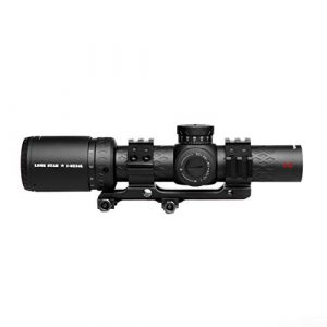 Sniper Rifle Scope 1 Sniper LS 1-8X24 Scope Red/Green Illuminated Reticle with 30mm Scope Rings