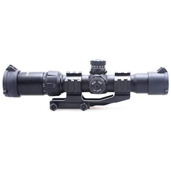 Vector Optics Rifle Scope 7 Vector Optics Mustang 1.5-4x30mm, 1/2 MOA, 30mm Tube, Red, Green & Blue Illuminated Chevron Reticle,Tactical Second Focal Plane (SFP) Riflescope