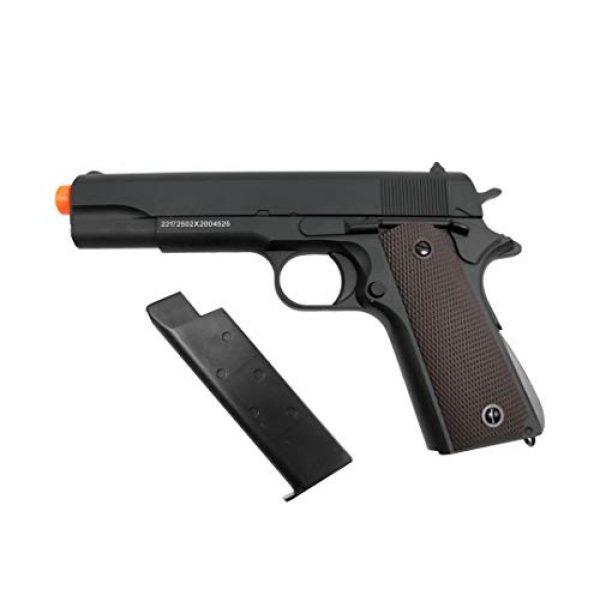 GE / JG Airsoft Pistol 3 GE / JG Full Metal 1911 Spring Powered Airsoft Pistol with Portable Airsoft BB Trap Target Tent Package (Black)