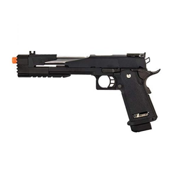 "Lancer Tactical Airsoft Pistol 1 Lancer Tactical WE-Tech Hi-Capa 7.0""Dragon Long Slide Full Auto Gas Blowback Airsoft Pistol with Standard Grip Black"