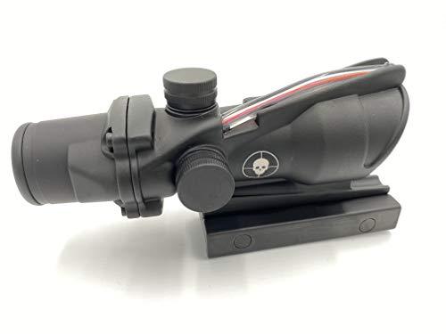 Spina Rifle Scope 7 Clone Skull ACOG 4X32 Fiber Lit Red Illuminated Chevron Scope Tactical