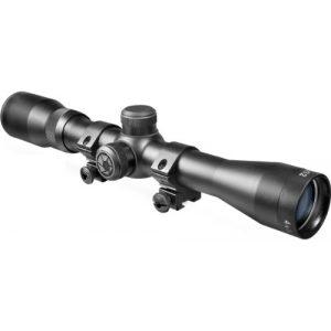 BARSKA Rifle Scope 1 BARSKA 4x32 Plinker-22 Riflescope w/ 3/8-Inch Dovetail Rings