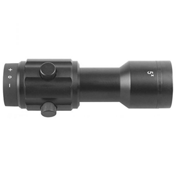Vector Optics Rifle Scope 3 Vector Optics 3X, 4X, 5X Tactical Maginifier with Flip-to-Side Detach Quick Release QD Picatinny Mount and Flip-up Scope Lens Cover for Red Dot Reflex Sight (Matte Black) (3X) (5X)