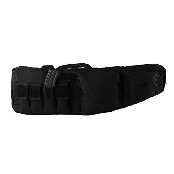 K-Cliffs Tactical Backpack 1 Tactical Rifle Backpack Gun Storage Case Double Long Rifles Carrying Bag   Lockable Zippers   Water Resistance Black
