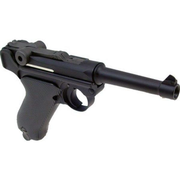 WE Airsoft Pistol 3 WE p-08 short version gas blowback full metal - black(Airsoft Gun)