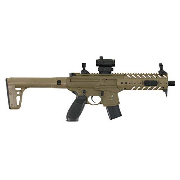 Sig Sauer Air Rifle 3 Sig Sauer MPX .177 Cal CO2 Powered SIG20R Red Dot Air Rifle 30 Rounds, Flat Dark Earth, One Size