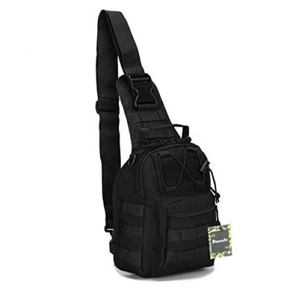 Dunnta Tactical Backpack 1 Dunnta Tactical Sling bag, Military Sport Bag EDC Molle Pack Daypack for Camping, Hiking, Trekking, Rover Sling