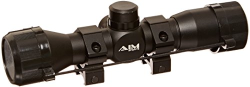 Aim Sports Rifle Scope 1 Aim Sports 4X32 Compact Rangfinder Scope with Rings