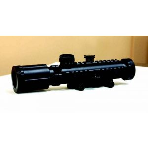 BSA Optics Rifle Scope 1 BSA 30-mm Stealth Tactical Rifle Scope with Illuminated Red Dot and 3X Magnification