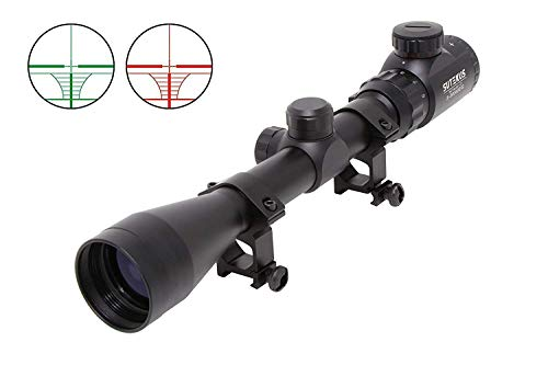 "Sutekus Rifle Scope 2 Sutekus Tactical Scope 3-9x40 Rangefinder Red & Green Illuminated Optics Reticle Crosshair Scope with 0.79""(20mm) Free Mounts"