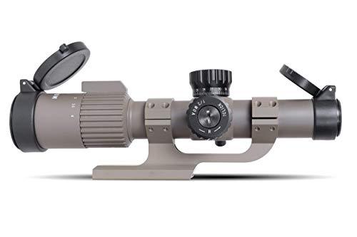 Monstrum Rifle Scope 1 Monstrum G3 1-4x24 First Focal Plane FFP Rifle Scope | ZR300 H-Series Offset Scope Mount | Flat Dark Earth | Bundle