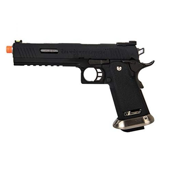"""Lancer Tactical Airsoft Pistol 1 Lancer Tactical WE-Tech Hi-Capa 6"""" IREX Full Auto Competition GBB Airsoft Pistol Black with Markings"""