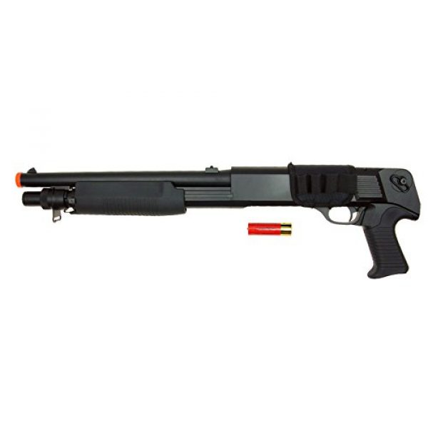 DE/CSI Airsoft Shotgun 1 DE Model-799S Tri-Burst Shot Gun w/Pistol Grip&Shell Holster