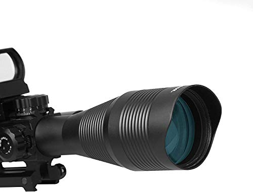 TPO Rifle Scope 7 TPO ST 4-16x50 Rifle Scope Combo Flashlight + Green Laser Sight+ 4 Holographic Reticle Red/Green Dot for Weaver/Rail Mount