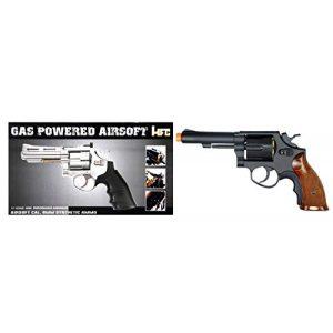 "HFC Airsoft Pistol 1 HFC Gas Powered Airsoft Revolvers (Black/Chrome 4""-6"")"