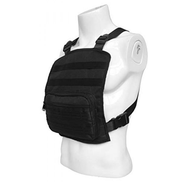 JFFCE Tactical Backpack 5 Tactical Chest Bag Pouch MOLLE Chest Panel Harness Multipurpose EDC Carry Pouch Tactical Chest Rig Black