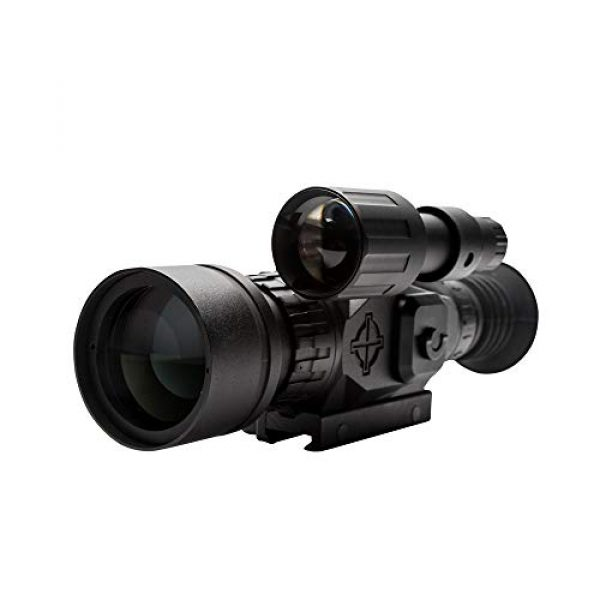 Sightmark Rifle Scope 3 Sightmark Wraith HD 4-32x50 Digital Riflescope Bundle with 4 AA Batteries, Battery Case and Lumintrail Cleaning Cloth