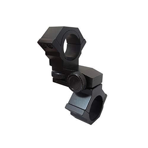 Without Rifle Scope 4 Toy Gun Sight Red dot Sight Magnification Laser Sight Scope Aiming Mount Adjustable Elevation 25.4mm amp; 30mm Diameter (Color : Black)