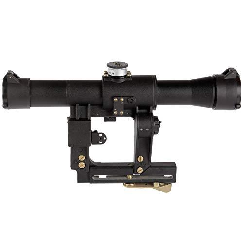 BelOMO Rifle Scope 4 BelOMO POSP 4x24 VM (BM). Optical Rifle Scope. Russian Side Mount. 1000m Rangefinder. 1 MOA. Combloc