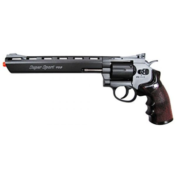 "Boomingisland Airsoft Pistol 1 Boomingisland Wingun 703 8"" Airsoft CO2 Revolver Black"