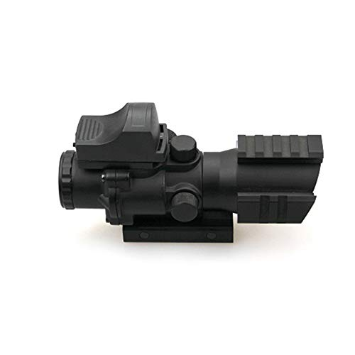 ZHRLQ Rifle Scope 7 ZHRLQ Optical Sight, High-Strength Anti-Shock Waterproof and Anti-Fog, 4X Lens with Green Coating, Adjustable Field of View