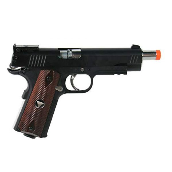 WinGun Airsoft Pistol 4 WG Special Combat Pistol 1911 CO2 Blowback Airsoft Pistol Black with Brown Grip