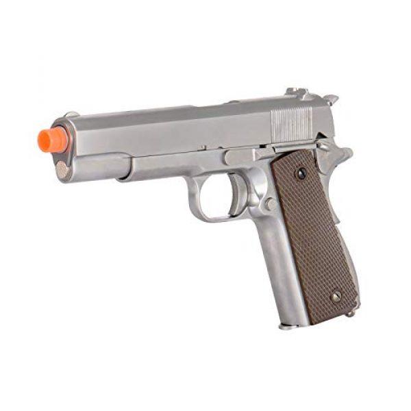 WE Airsoft Pistol 3 WE Tech M1911 Metal GBB Airsoft Pistol CO2 Version Chrome