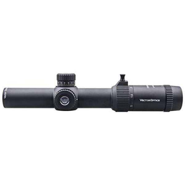 Vector Optics Rifle Scope 2 Vector Optics 1-5x24 Rifle Scope Second Focal Plane SFP Rifle Scope with Etched Center Dot Illuminated Reticle,30mm Tube and Parallax Adjustment